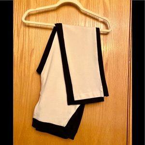 Chico's Black Label Black & White Knit Pants
